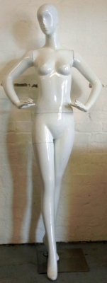 White abstract female mannequin